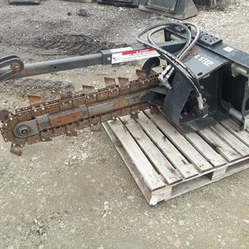 Image 2 Bobcat Model T113 Skid Steer Trencher