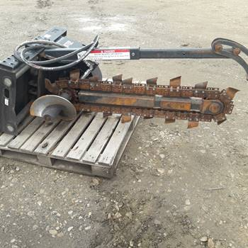 Image 3 Bobcat Model T113 Skid Steer Trencher